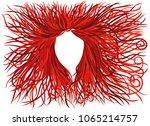 beautiful waving long hair.... | Shutterstock .eps vector #1065214757