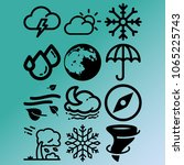 vector icon set about weather...   Shutterstock .eps vector #1065225743