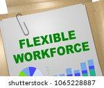 3d illustration of flexible... | Shutterstock . vector #1065228887
