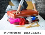 travel and vacation concept ... | Shutterstock . vector #1065233363