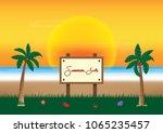 summer sale promotion season... | Shutterstock .eps vector #1065235457