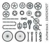 gears  chains  wheels and other ... | Shutterstock .eps vector #1065242927