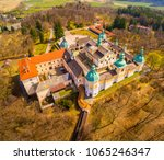 aerial view to svata hora  holy ... | Shutterstock . vector #1065246347