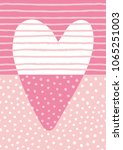 hand drawn heart design. vector ... | Shutterstock .eps vector #1065251003