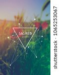 triangles and particles hipster ... | Shutterstock .eps vector #1065253067