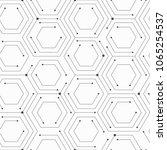 monochrome technology seamless... | Shutterstock .eps vector #1065254537