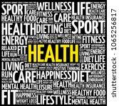 health word cloud collage ...   Shutterstock . vector #1065256817