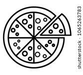 pizza icon vector   Shutterstock .eps vector #1065263783