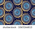 textile fashion african print... | Shutterstock .eps vector #1065266813