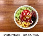 top view of shaved iced with...   Shutterstock . vector #1065274037