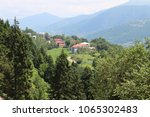 mountain village in turkey.... | Shutterstock . vector #1065302483