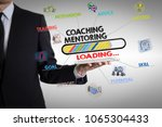 coaching and mentoring concept. ... | Shutterstock . vector #1065304433