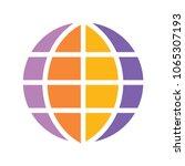 globe icon  earth planet  ...   Shutterstock .eps vector #1065307193