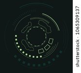 sci fi futuristic user... | Shutterstock .eps vector #1065309137