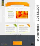 abstract web site template... | Shutterstock .eps vector #106531007
