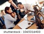 bronze figurine of themis holds ... | Shutterstock . vector #1065316403