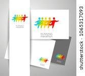 running people. group of... | Shutterstock .eps vector #1065317093