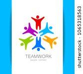 teamwork logo. social ... | Shutterstock .eps vector #1065318563