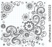 hand drawn flowers back to... | Shutterstock .eps vector #106533323