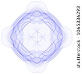 vector guilloche graphics. wavy ... | Shutterstock .eps vector #1065336293