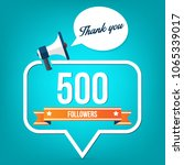 500 followers. vector... | Shutterstock .eps vector #1065339017