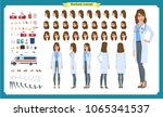 female doctor character... | Shutterstock .eps vector #1065341537