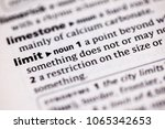 close up to the dictionary... | Shutterstock . vector #1065342653