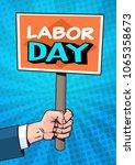 Labor Day Retro Poster Over...
