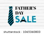 father's sale banner on wooden...   Shutterstock .eps vector #1065360803