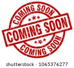 coming soon round red grunge... | Shutterstock .eps vector #1065376277