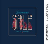 summer sale background  banners ... | Shutterstock .eps vector #1065414437