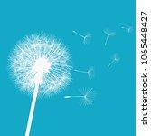 dandelion in the wind | Shutterstock .eps vector #1065448427