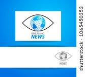 breaking news logo template. tv ... | Shutterstock .eps vector #1065450353