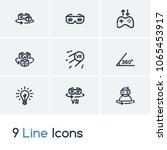 augmented reality icon set and...   Shutterstock .eps vector #1065453917