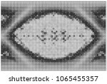 black and white abstract vector ...   Shutterstock .eps vector #1065455357