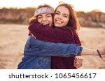 image of happy young caucasian... | Shutterstock . vector #1065456617