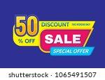 sale   concept banner vector... | Shutterstock .eps vector #1065491507