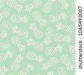 pineapple seamless pattern on... | Shutterstock .eps vector #1065493007