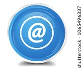 at icon isolated on blue round... | Shutterstock .eps vector #1065496337