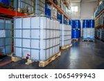 white plastic barrel. barrel on ... | Shutterstock . vector #1065499943