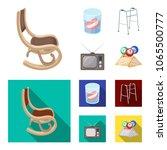 denture  rocking chair  walker  ... | Shutterstock .eps vector #1065500777