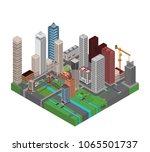isometric city  metropolis | Shutterstock .eps vector #1065501737