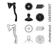 circular saw  a working...   Shutterstock .eps vector #1065505307
