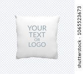 clean pillow mock up  template... | Shutterstock .eps vector #1065523673