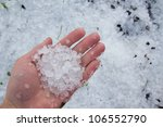 massive hailstorm - stock photo
