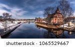 the picturesque wooden houses... | Shutterstock . vector #1065529667