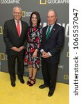 Small photo of New York, NY - April 9, 2018: Gary Knell, Courteney Monroe, Michael Bloomberg attend National Geographic presents America Inside Out with Katie Couric at Museum of Modern Art