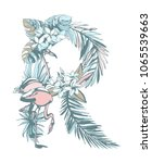 floral summer pattern hand... | Shutterstock .eps vector #1065539663