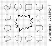 white series   speech and... | Shutterstock .eps vector #106554047