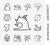 white series   hand draw season ... | Shutterstock .eps vector #106554077